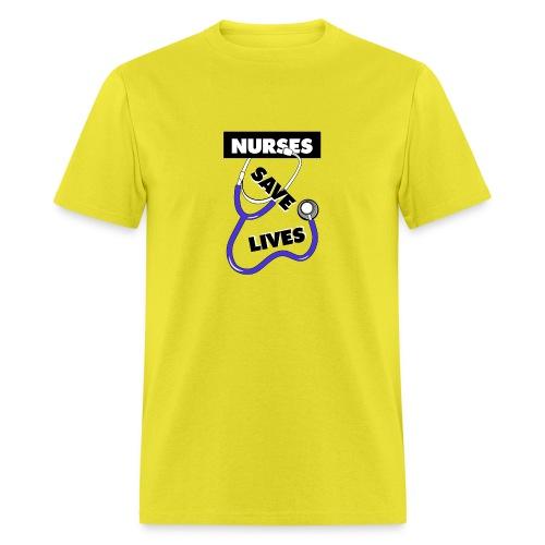 Nurses save lives purple - Men's T-Shirt