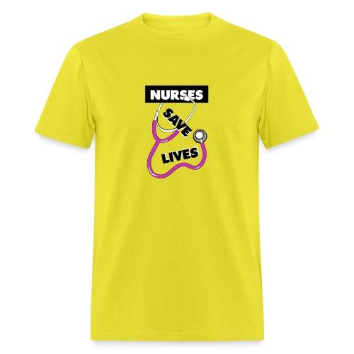 Nurses save lives pink - Men's T-Shirt