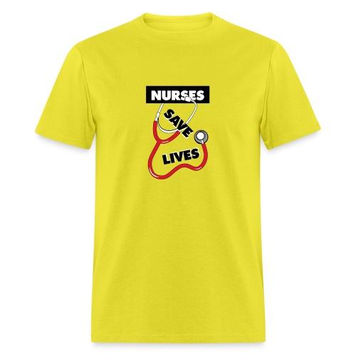 Nurses save lives red - Men's T-Shirt