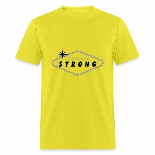 Vegas Strong Sign (grey) - Men's T-Shirt