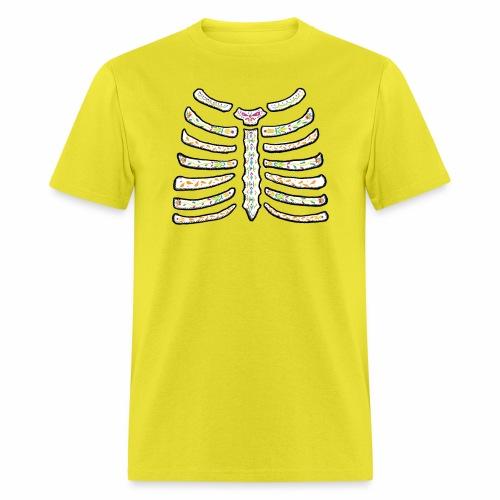 dia de muertos ribcage2 - Men's T-Shirt