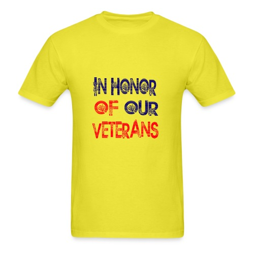 in honor of our veterans - Men's T-Shirt