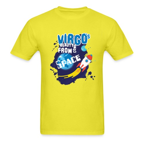 Funny Awesome Virgo`s Beauty come from Space - Men's T-Shirt