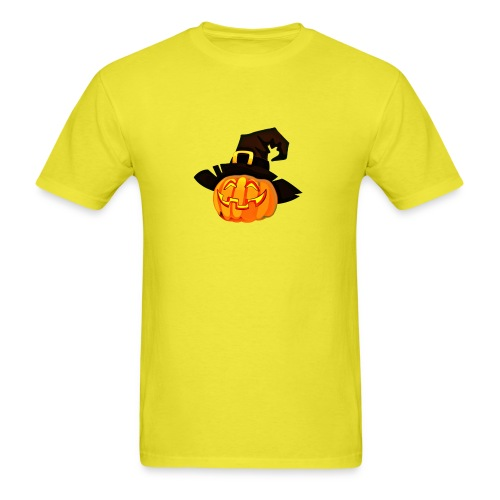 Funny Pumpkin lantern with a hat - Men's T-Shirt