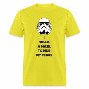 Storm Troopers Mask - Black Text - Men's T-Shirt