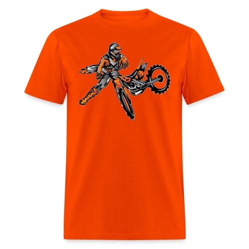 Orange Freestyle Motocross Rider - Men's T-Shirt