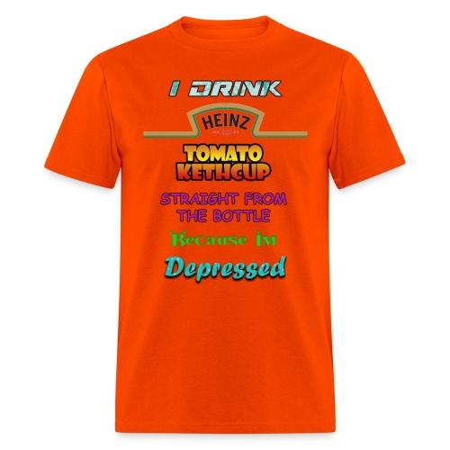 ketchup depressed png - Men's T-Shirt