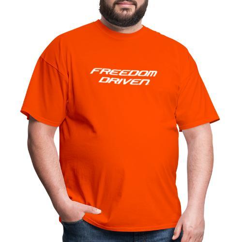 Freedom Driven Official White Lettering - Men's T-Shirt