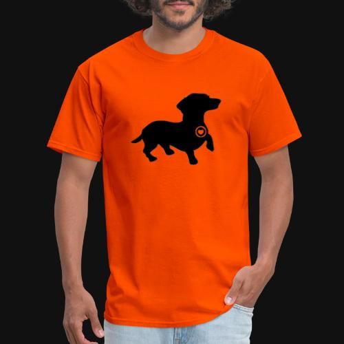 Dachshund love silhouette black - Men's T-Shirt