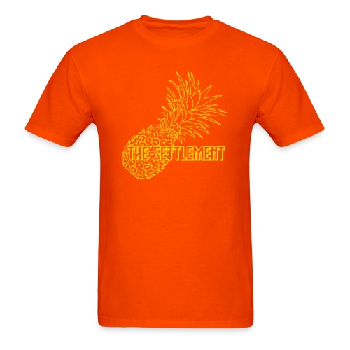Pineapple with Band Name | The Settlement - Men's T-Shirt