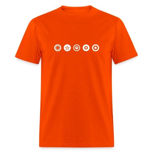 Axis & Allies Logos: China, USA, ANZAC, UK, France - Men's T-Shirt
