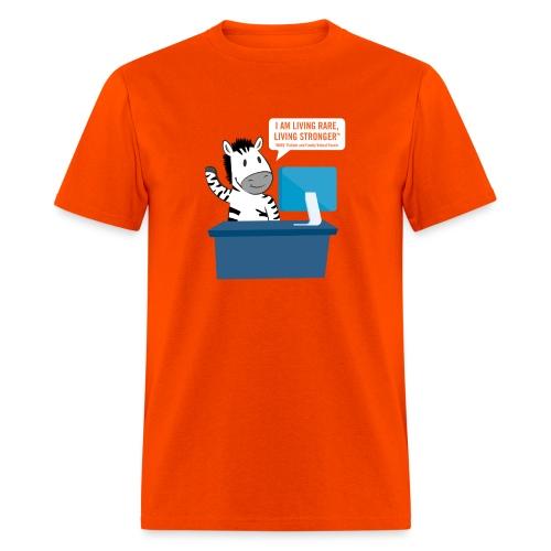 Living Rare, Living Stronger 2020 Virtual Zebra - Men's T-Shirt