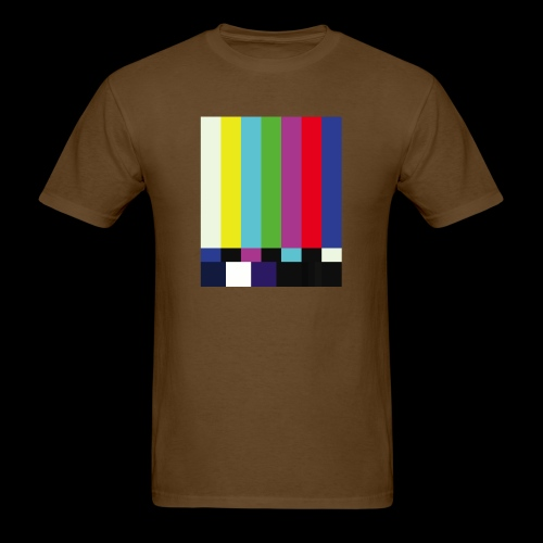 This is a TV Test   Retro Television Broadcast - Men's T-Shirt