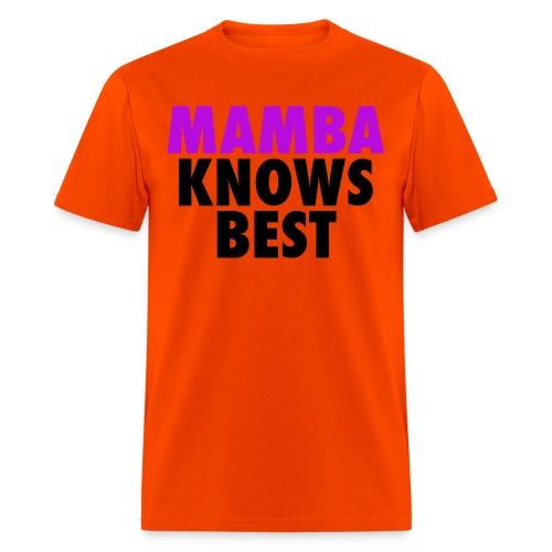 Mamba Knows Best Black - Men's T-Shirt