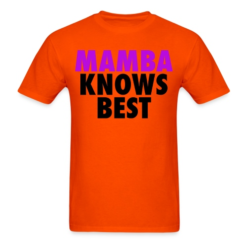 Mamba Knows Best Black - Men's T-Shirt