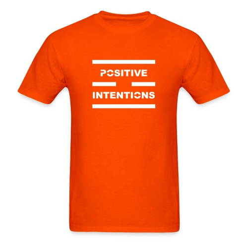 Positive Intentions White Lettering - Men's T-Shirt