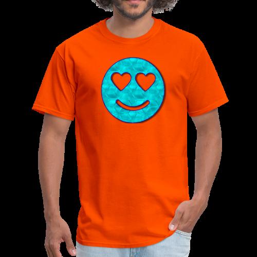 Smiley Love-Blue - Men's T-Shirt