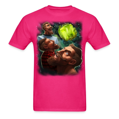 three sjin ranium transparentbk png - Men's T-Shirt