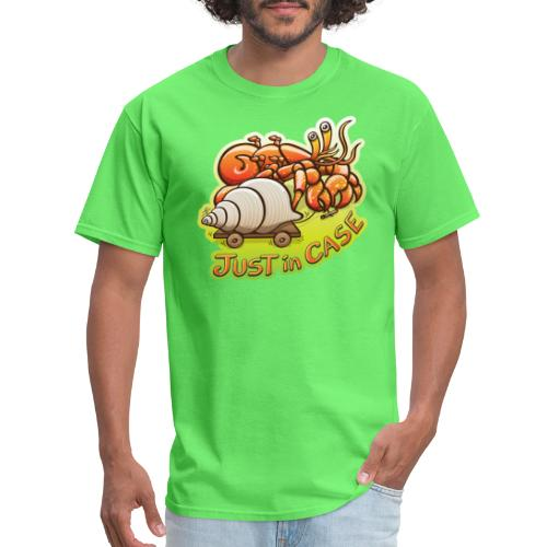 Hermit crab goes out but takes shell, just in case - Men's T-Shirt