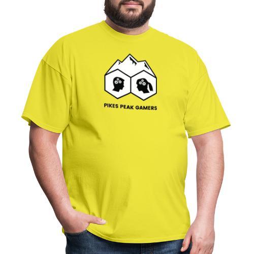 Pikes Peak Gamers Logo (Solid White) - Men's T-Shirt