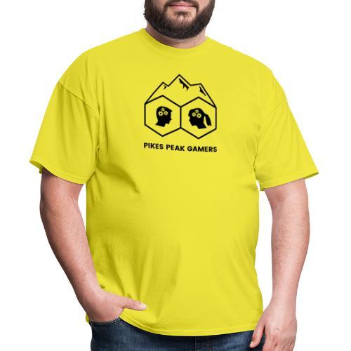 Pikes Peak Gamers Logo (Transparent Black) - Men's T-Shirt