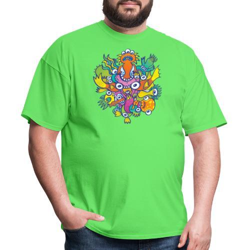 Don't let this evil monster gobble our friend - Men's T-Shirt