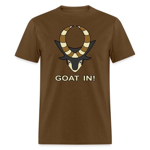 goat in text - Men's T-Shirt
