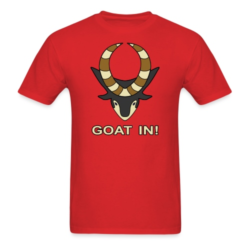 goat in text - Men's T-Shirt