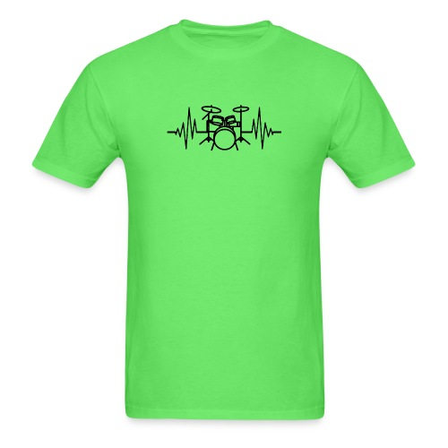 Drums Heartbeat Funny drummer - Men's T-Shirt