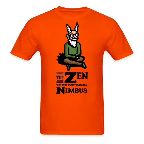 Nimbus character in color and logo vertical - Men's T-Shirt