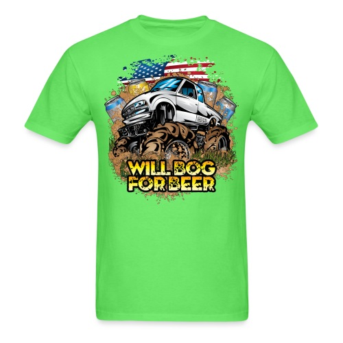 Mud Truck Bog 4 Beer - Men's T-Shirt