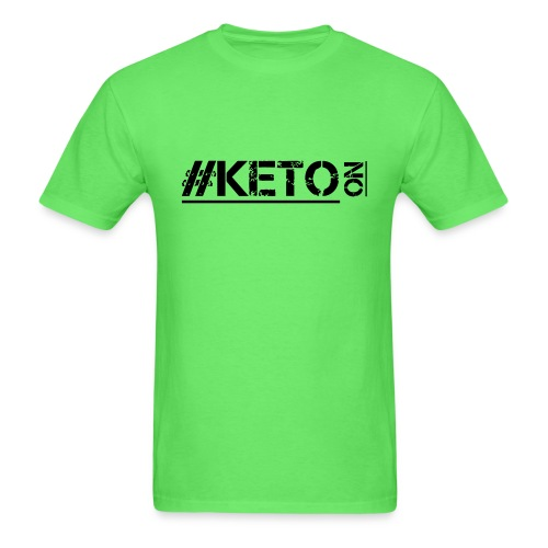 Distressed KETO On - Men's T-Shirt
