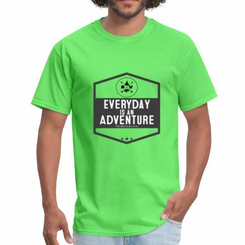 TheMainStJrnl - Everyday Is An Adventure (Black) - Men's T-Shirt