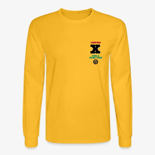 Malcolm X Was a Trap Star (RBG) - Men's Long Sleeve T-Shirt
