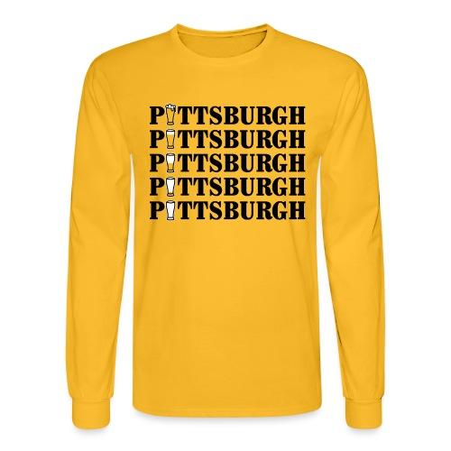 Beer in Pittsburgh - Men's Long Sleeve T-Shirt