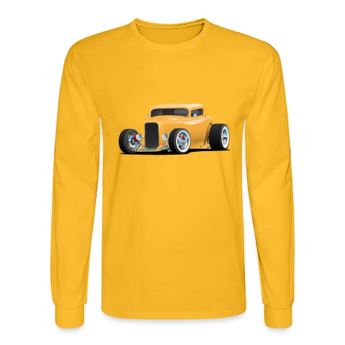 Classic American 32 Hotrod Car Illustration - Men's Long Sleeve T-Shirt