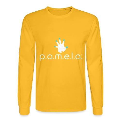 P.A.M.E.L.A. Logo White - Men's Long Sleeve T-Shirt