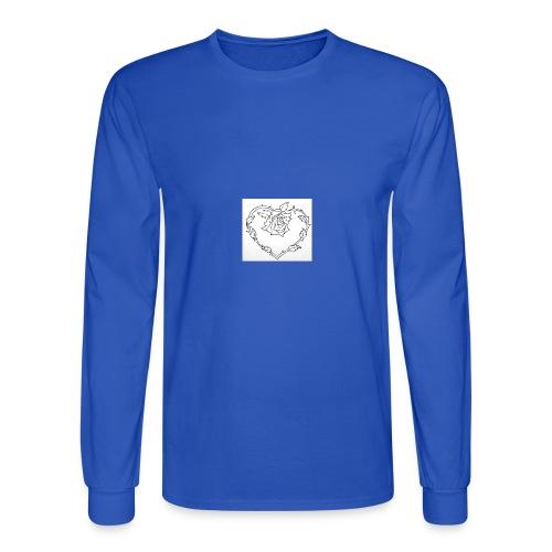rose heart - Men's Long Sleeve T-Shirt