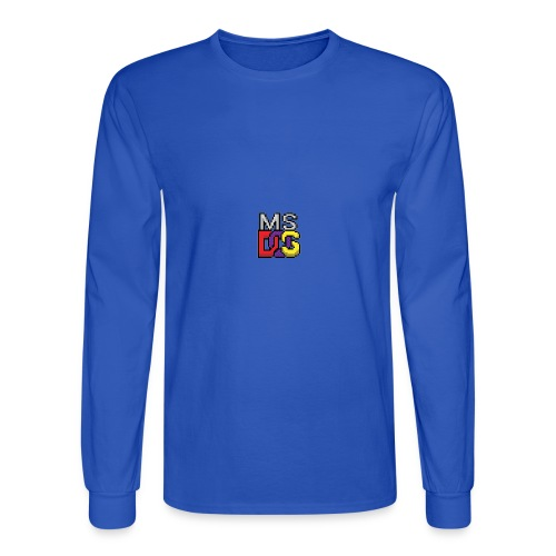 MS DOS Prompt logo - Men's Long Sleeve T-Shirt