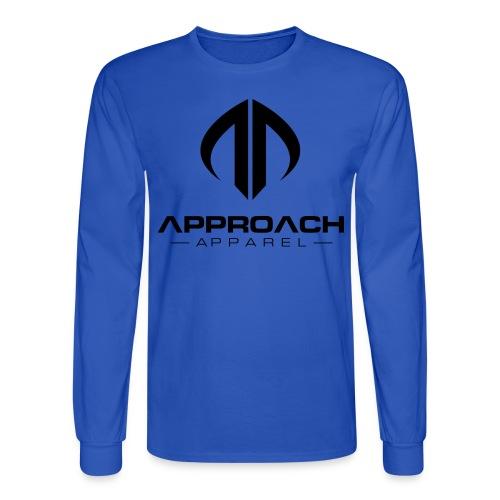 Approach Apparel Athletic Hoodie Shirt- Black Logo - Men's Long Sleeve T-Shirt