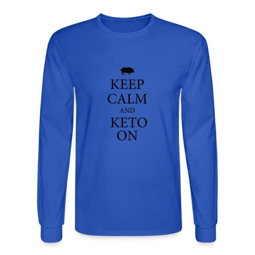 Keto keep calm2 - Men's Long Sleeve T-Shirt
