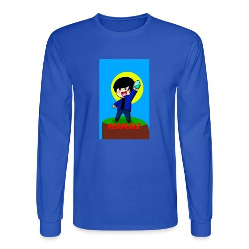 BLUE REDPLAYZ T-SHIRT ORIGINAL DESIGN - Men's Long Sleeve T-Shirt