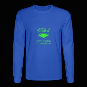 Mid-South Wrestling News Neon/Lime Green - Men's Long Sleeve T-Shirt