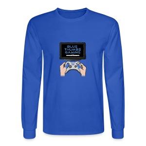 Blue Thumbs Gaming: Gamepad Logo - Men's Long Sleeve T-Shirt