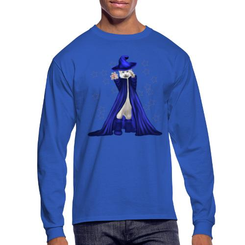 Cat Wizard with Stars - Men's Long Sleeve T-Shirt