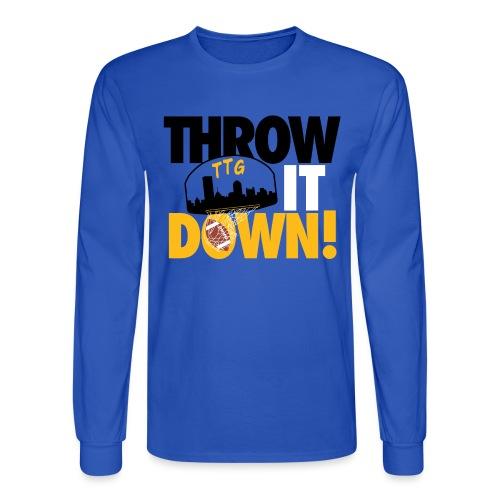 Throw it Down! (Turnover Dunk) - Men's Long Sleeve T-Shirt