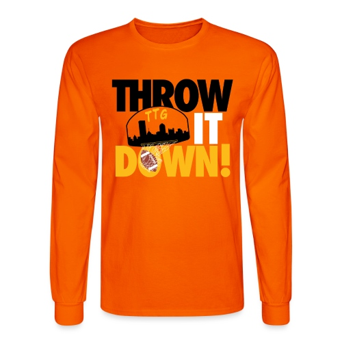 Throw it Down! (Turnover Dunk) - Men's Long Sleeve T-Shirt