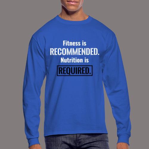 Mens_Nutrition_Black - Men's Long Sleeve T-Shirt