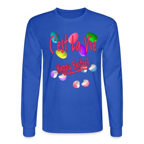 C'est La Vie, Easter Broken Eggs, Cest la vie - Men's Long Sleeve T-Shirt