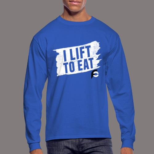 I Lift To Eat White 2 - Men's Long Sleeve T-Shirt